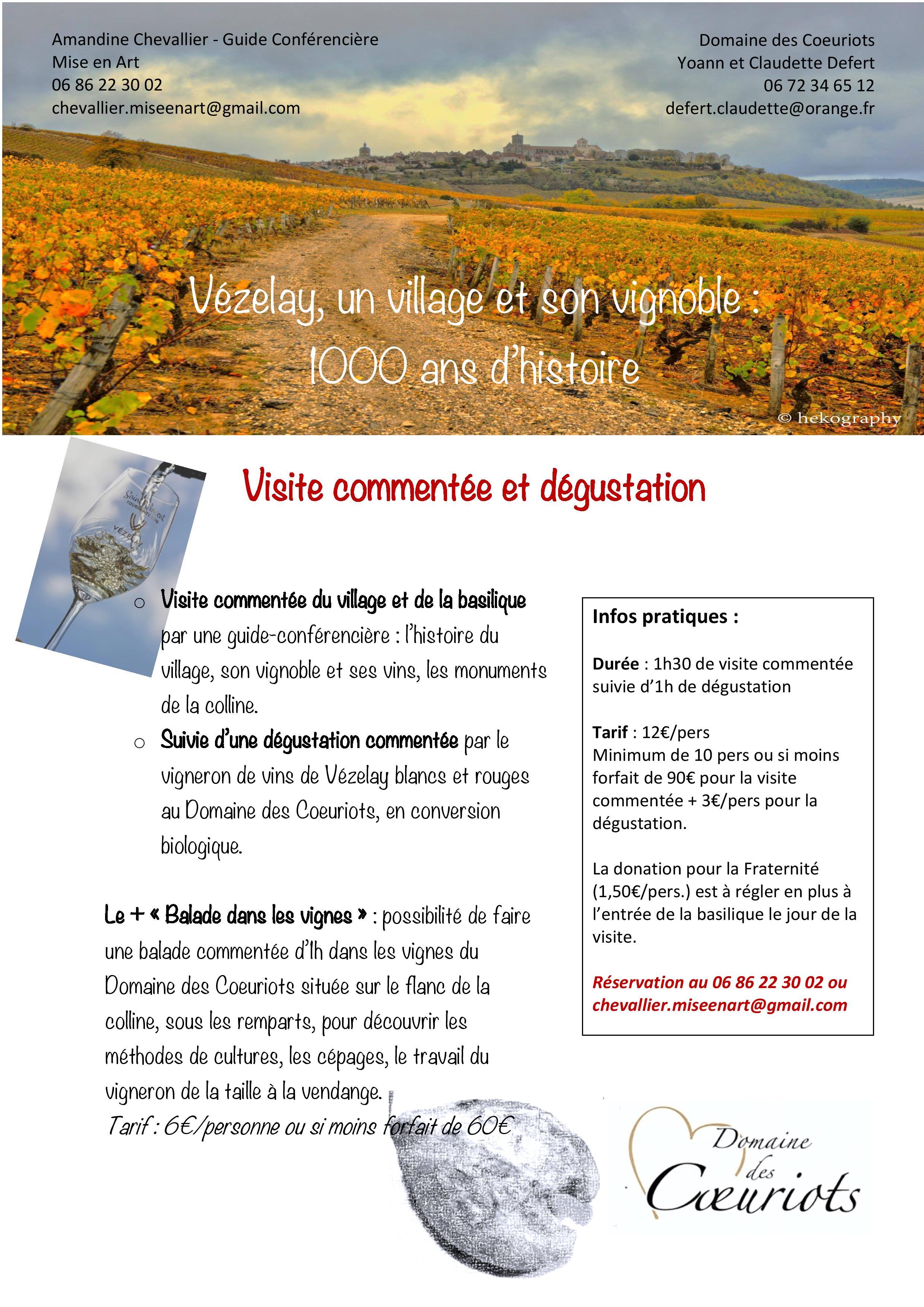 © Amandine Chevallier © Flyer visite dégustation à Vézelay